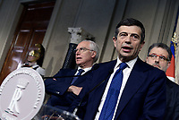 Roma, 4 Aprile 2018<br /> Gugielmo Epifani, Maurizio Lupi, Federico Fornaro, gruppo Misto.<br /> Primo giorno di Consultazioni per la formazione del Governo