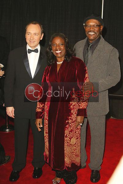Kevin Spacey, LaTanya Richardson and Samuel L. Jackson