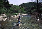 woman hiking in Tassajara Creek