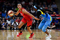 Washington, DC - September 8, 2019: Washington Mystics guard Natasha Cloud (9) guarded by Chicago Sky guard Kahleah Copper (2)  during game between the Chicago Sky and Washington Mystics at the Entertainment and Sports Arena in Washington, DC. The Mystics locked up the #1 seed in the Playoffs by defeating the Sky 100-86. (Photo by Phil Peters/Media Images International)