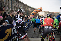 Tom Dumoulin (NED/Sunweb) waiting for the start<br /> <br /> race start in Milano for the 108th Milano - Sanremo 2017