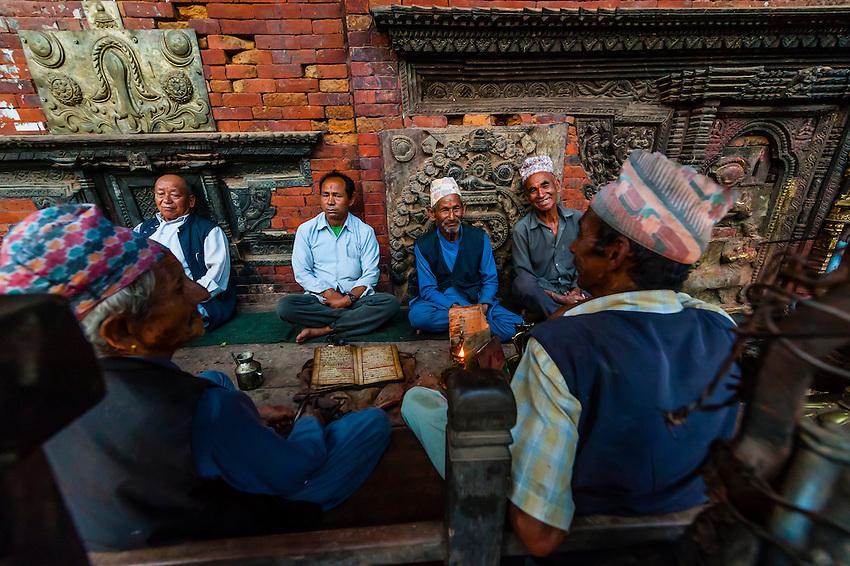 Bhairav (Hindu) Temple, Taumadhi Square, Bhaktapur, Kathmandu Valley, Nepal.
