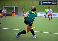 Action from the Wellington Hockey women's open grade premier one match between Victoria University and Toa at National Hockey Stadium in Wellington, New Zealand on Saturday, 21 July 2018. Photo: Dave Lintott / lintottphoto.co.nz
