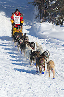 Mitch Seavey on Long Lake at the Re-Start of the 2012 Iditarod Sled Dog Race