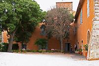 Prieure de St Jean de Bebian. Pezenas region. Languedoc. The villa. In the garden. The main building. France. Europe.