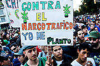 People take part in a rally to support Marijuana decriminalization in Buenos Aires, Argentina May 4, 2013. Photo by Juan Gabriel Lopera / VIEWpress.