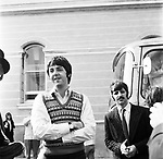Beatles 1967 Paul McCartney and Ringo Starr at start of Magical Mystery Tour © Chris Walter.