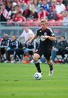 August 21 2010   D.C. United forward Daniel Allsopp #9 in action during a game between DC United and Toronto FC at BMO Field in Toronto..DC United won 1-0.