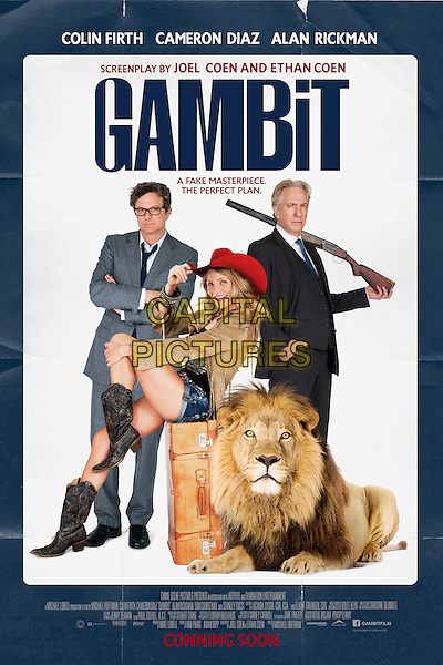 POSTER ART.in Gambit (2012).*Filmstill - Editorial Use Only*.CAP/NFS.Supplied by Capital Pictures.