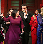 Kristen Anderson-Lopez and cast during the Broadway Opening Night Performance Curtain Call for 'In Transit' at Circle in the Square Theatre on December 11, 2016 in New York City.
