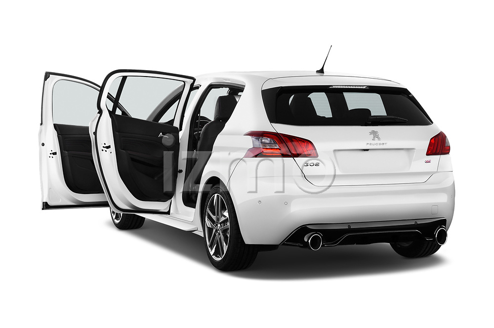 Car images close up view of a 2018 Peugeot 308 GTi Base 5 Door Hatchback doors
