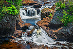 There are several great waterfalls on the Potato River near Gurney, Wisconsin.