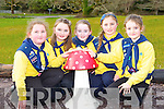 Amy Walsh, Saoirse O'Byrne, Abbie O'Sullivan, Aimee Coffey and Tara Doyle Torc and Fossa Killarney Brownies at their enrolment in Muckross on Sunday the club are celebrating its 100th anniversary this year