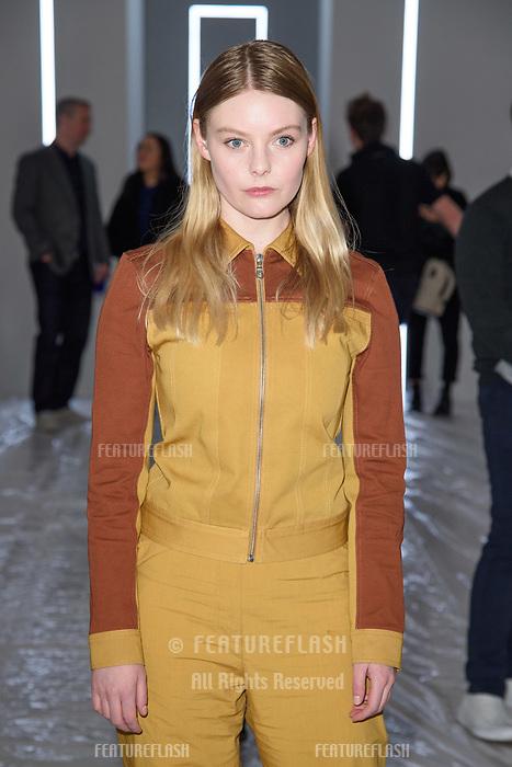 Nell Hudson at the Jasper Conran show as part of London Fashion Week, London, UK. <br /> 17 February  2018<br /> Picture: Steve Vas/Featureflash/SilverHub 0208 004 5359 sales@silverhubmedia.com