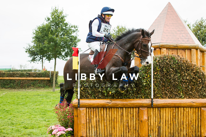 USA-Phillip Dutton (TRADING ACES) RETIRED: CROSS COUNTRY: EVENTING: The Alltech FEI World Equestrian Games 2014 In Normandy - France (Saturday 30 August) CREDIT: Libby Law COPYRIGHT: LIBBY LAW PHOTOGRAPHY - NZL