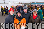 Donate Condon, Margaret O'Connor, Tadgh Condon and Kay McNamara Austin Stacks supporters at the Austin Stacks v Slaughtneil All Ireland Club Football Semi Final in Portlaoise on Sunday.