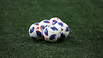ATLANTA, GA - DECEMBER 07: MLS adidas Nativo balls. The MLS Cup 2018 Team Training Sessions were held on December 7, 2018 at the Mercedes Benz Stadium in Atlanta, GA.