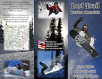 Brochure Advertising project I conceived, photographed and designed for Lost Trail Powder Mountain of Conner, MT.  Stock images purchased appear at www.losttrail.com