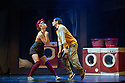 London, UK. 19.09.2012. SOME LIKE IT HIP HOP returns to the Peacock Theatre with original leads Tommy Franzén, Lizzie Gough (both finalists, BBC's So You Think You Can Dance) and Teneisha Bonner (StreetDance 3D), for a limited run before it sets off on its first UK tour. With a nod to Billy Wilder's film and Shakespeare's Twelfth Night, it tells a comical tale of love, mistaken identity, cross-dressing and revolution; all played out in ZooNation's trademark style of hip hop, comedy and physical theatre. .Directed by Kate Prince, Some Like It Hip Hop also features original music by Josh Cohen and DJ Walde. Picture shows:  Lizzie Gough (Jo-Jo Jameson) and Tommy Franzen (Simeon Sun).Photo credit: Jane Hobson.