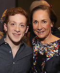 Ethan Slater and Laurie Metcalf attends the 63rd Annual Drama Desk Awards Nominees Reception on May 9, 2018 at Friedmans in the Edison Hotel in New York City.