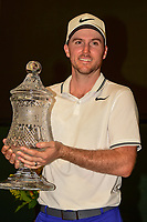 Russell Henley (USA) holds the trophy for winning the Shell Houston Open, Golf Club of Houston, Houston, Texas, USA. 4/2/2017.<br /> Picture: Golffile | Ken Murray<br /> <br /> <br /> All photo usage must carry mandatory copyright credit (&copy; Golffile | Ken Murray)