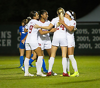 STANFORD, CA - NOVEMBER 22: Stanford, CA - November 22, 2019: Catarina Macario, Sophia Smith, Abby Greubel at Laird Q. Cagan Stadium. The Stanford Cardinal defeated Hofstra 4-0 in the second round of the NCAA tournament. during a game between Hofstra and Stanford Soccer W at Laird Q. Cagan on November 22, 2019 in Stanford, California.