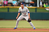 Chattanooga Lookouts shortstop Corey Seager (12) during game three of the Southern League Championship Series against the Jacksonville Suns on September 12, 2014 at Bragan Field in Jacksonville, Florida.  Jacksonville defeated Chattanooga 6-1 to sweep three games to none.  (Mike Janes/Four Seam Images)
