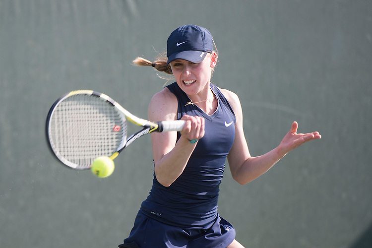 April 23, 2014; San Diego, CA, USA; Gonzaga Bulldogs player Kylie Peek during the WCC Tennis Championships at Barnes Tennis Center.