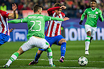 PSV Eindhoven's Bart Ramselaar Atletico de Madrid's Jose Maria Gimenez  during the Champions League match between Atletico de Madrid and PSV Eindhoven at Vicente Calderon Stadium in Madrid , Spain. November 23, 2016. (ALTERPHOTOS/Rodrigo Jimenez)
