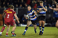 Jack Wilson of Bath United in possession. Aviva A-League match, between Bath United and Harlequins A on March 26, 2018 at the Recreation Ground in Bath, England. Photo by: Patrick Khachfe / Onside Images