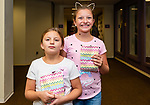 TORRINGTON, CT. 25 August 2018-082518 - From left, Sisters Lana and Mila Mancini of Waterbury enjoy themselves during the Family Arts day at the Warner Theatre Center for Arts Education in Torrington on Saturday afternoon. Bill Shettle Republican-American