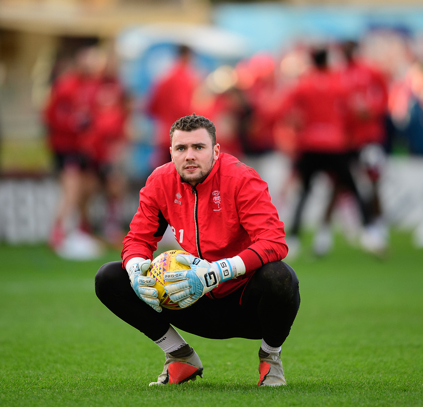 Lincoln City's Grant Smith during the pre-match warm-up<br /> <br /> Photographer Chris Vaughan/CameraSport<br /> <br /> The EFL Sky Bet League Two - Lincoln City v Newport County - Saturday 22nd December 201 - Sincil Bank - Lincoln<br /> <br /> World Copyright © 2018 CameraSport. All rights reserved. 43 Linden Ave. Countesthorpe. Leicester. England. LE8 5PG - Tel: +44 (0) 116 277 4147 - admin@camerasport.com - www.camerasport.com