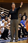 02 January 2014: Duke head coach Joanne P. McCallie. The Duke University Blue Devils played the Old Dominion University Lady Monarchs in an NCAA Division I women's basketball game at Cameron Indoor Stadium in Durham, North Carolina. Duke won the game 87-63.