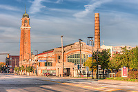 The historic West Side Market in located in the Ohio City neighborhood of Cleveland, Ohio.