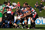 Gary Saifoloi picks & goes from the back of a ruck . Air New Zealand Cup rugby game between the Counties Manukau Steelers & Manawatu Turbos, played at Growers Stadium Pukekohe on Staurday September 20th 2008..Counties Manukau won 27 - 14 after trailing 14 - 7 at halftime.