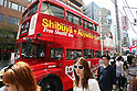 May 5, 2010 - Tokyo, Japan - A Routemaster bus makes it's way in Tokyo, Japan on May 5, 2010. During five days, the double-decker legend is used as free shuttle between Shibuya and Aoyama for the promotion of the British luxury brand group Vulcanize London.