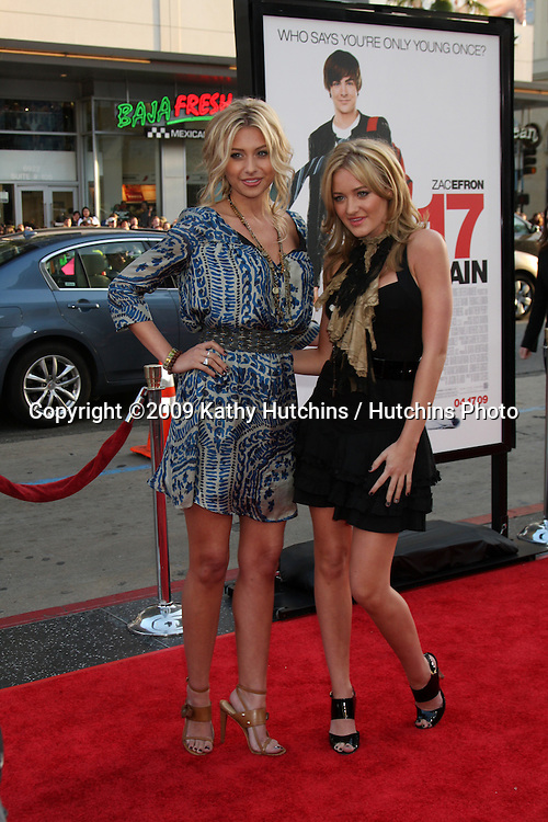 Aly & AJ , aka Alyson Michalka & Amanda Michalka  arriving at the 17 Again Premiere at Grauman's Chinese Theater in Los Angeles, CA on April 14, 2009.©2009 Kathy Hutchins / Hutchins Photo....                .