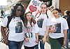 Mark Duggan <br /> march and demonstration / vigil at the Broadwater Estate and outside Tottenham Police Station, Tottenham, London, Great Britain <br /> 4th August 2017 <br /> <br /> on the 6th anniversary after he was killed in 2011. <br /> <br /> <br /> Jermaine Baker's mother far left <br /> <br /> <br /> Photograph by Elliott Franks <br /> Image licensed to Elliott Franks Photography Services