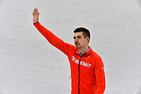 Germany's Paul Fentz waves at the men's figure skating singles in the Gangneung Ice Arena at the Winter Olympics in Pyeongchang, South Korea, 9 February 2018. Photo: Peter Kneffel/dpa /MediaPunch ***FOR USA ONLY***