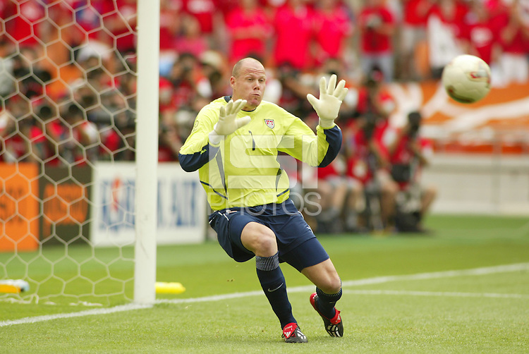 Brad Friedel makes a stop. The USA tied South Korea, 1-1, during the FIFA World Cup 2002 in Daegu, Korea.