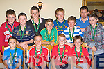 The Killorglin u12 team that received their medals for finishing Division 1 runners up at the Killorglin FC awards night in Killorglin Golf club on Thursday evening front row l-r: Gavin Riordan, Sean Kelleher, John McCarthy, Paddy Collins. Back row: Shane O'Sullivan, Gavin Evans, Tommy Cahill, David Costello, John Tyther, Paudie McMahon, Michael Kelleher and Niall O'Connor.