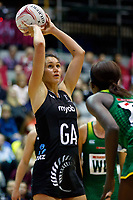 20.01.2019 Silver Ferns in action during the Silver Ferns v South Africa netball test match at the Copper Box Arena, London. Mandatory Photo Credit ©Michael Bradley Photography/Ben Queenborough.20.01.2019 Ameliaranne Ekenasio of the Silver Ferns  during the Silver Ferns v South Africa netball test match at the Copper Box Arena, London. Mandatory Photo Credit ©Michael Bradley Photography/Ben Queenborough.
