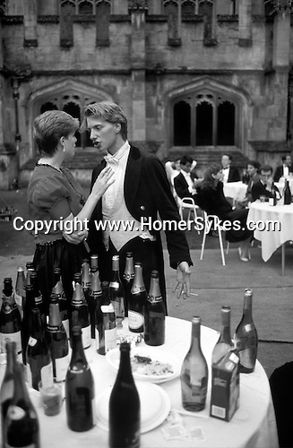 May Ball at Oxford University students, up all night too much to drink argument. the moring after the night before.  The English Season published by Pavilion Books 1987