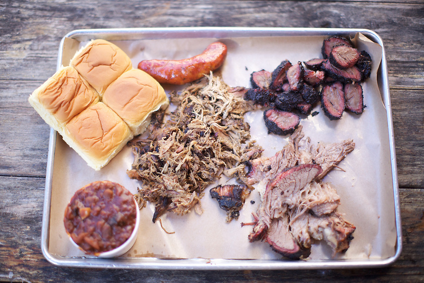 BROOKLYN, NY - SEPTEMBER 28, 2013: $48.56 in Barbecue at Fette Sau in Williamsburg. CREDIT: Clay Williams for Zagat.<br /> <br /> <br /> &copy; Clay Williams / http://claywilliamsphoto.com