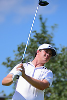 Cody Gribble (USA) watches his tee shot on 10 during round 2 of the Valero Texas Open, AT&amp;T Oaks Course, TPC San Antonio, San Antonio, Texas, USA. 4/21/2017.<br /> Picture: Golffile | Ken Murray<br /> <br /> <br /> All photo usage must carry mandatory copyright credit (&copy; Golffile | Ken Murray)