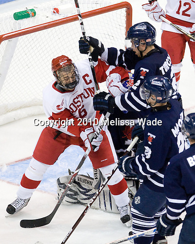 Joe Pereira (BU - 6), Tyler Turcotte (Toronto - 2) - The Boston University Terriers defeated the visiting University of Toronto Varsity Blues 9-3 on Saturday, October 2, 2010, at Agganis Arena in Boston, MA.