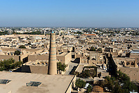 Blick vom Minarett Islomxoja &uuml;berr Altstadt Ichan Qala, Chiwa, Usbekistan, Asien, UNESCO-Weltkulturerbe<br /> View from Minaret Islomxoja hitoric city Ichan Qala, Chiwa, Uzbekistan, Asia, UNESCO heritage site