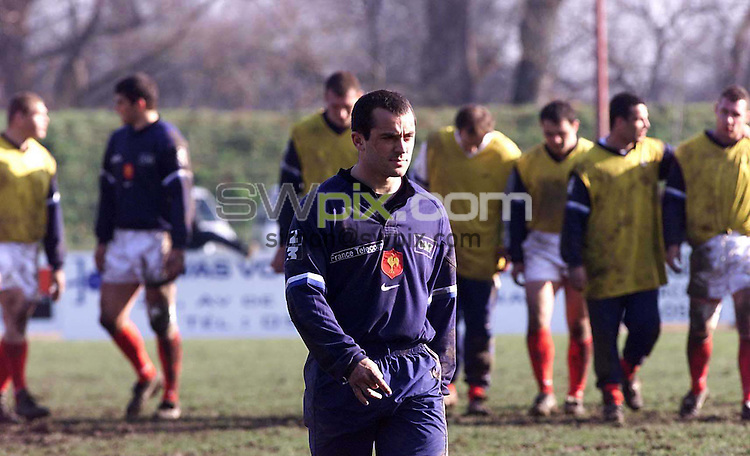 Pix: Ben Duffy.... 19/01/00..Thomas Castagnede..COPYWRIGHT PICTURE>>SIMON WILKINSON>>01943 436649>>..Thomas Castagnede in training with the French rugby Union Team in Toulouse