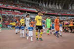 Shandong Luneng FC (CHN) vs Guangzhou Evergrande FC (CHN) during their AFC Champions League 2019 Round of 16 match at the Jinan Olympic Sports Center on 25 June 2019, in Jinan, China. Photo by Stringer / Power Sport Images
