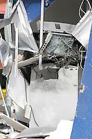 SAO PAULO, SP, 22/09/2014, EXPLOSAO CAIXA ELETRONICO. Bandidos explodiram um caixa eletronico na madrugada dessa segunda-feria (22). O caixa fica dentro de um posto de combustiveis na Av. Sapopemba n 1780 no bairro da Agua Rasa. Ninguem foi preso e ainda nao se sabe qual o valor levado. Luiz  Guarnieri/Brazil Photo Press.